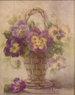 Pansies in Brown Basket